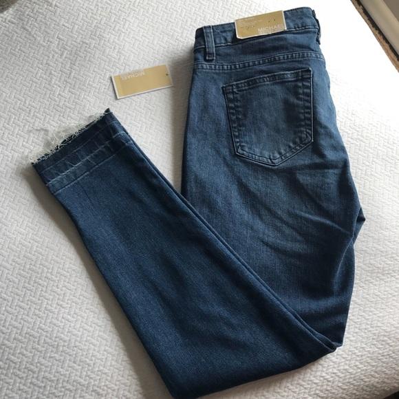 fe2268bffbed MICHAEL Michael Kors Jeans | Nwt Michael Kors Izzy Skinny Raw Hem ...